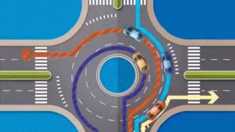 Cómo circular en una rotonda según la DGT