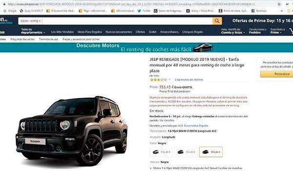 Así funciona el Renting de Amazon y las ventas van «muy, muy, muy bien»