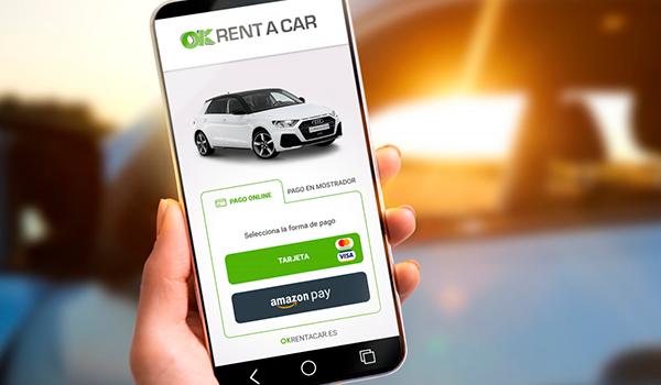 OK Rent a Car, primera empresa española de rent a car en incorporar Amazon Pay